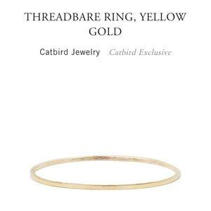 Catbird Threadbare Ring Size 8 Yellow Gold